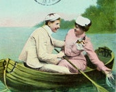 French Antique Postcard - Hold Still a Moment