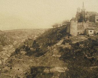 Vintage Unused Postcard - Roman Theatre & Pipet Hill, Vienne-sur-le-Rhone, Isère, France
