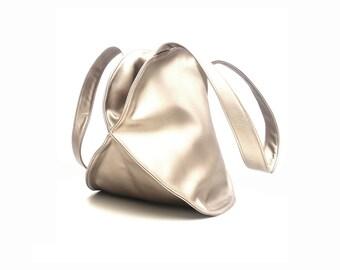 Gold HandBag, Top Handle Bag for women vegan leather handbag, gold  purse, Convertible Backpack Bag, Carry All Office Bag, Gold bag, foe her