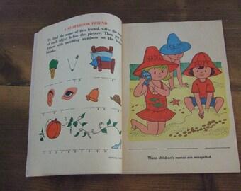 Pencil Puzzle Fun A 1972 Golden Special Activity Book