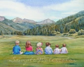 12x16 Custom Commissioned Painting in Watercolor or Oil from Photos by Janet Zeh