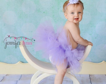 Tutu Skirt, Baby Tutu, Tutu, Infant Tutu, Tutu Skirts, Newborn Tutu, Lavender, With Matching Headband , Available In Size 0-24 Months
