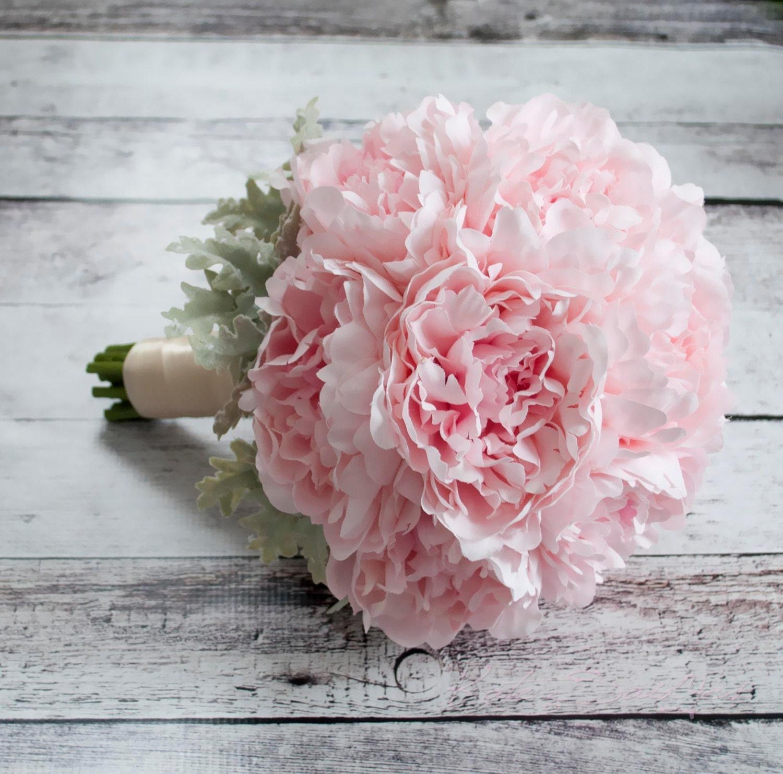 Blush Wedding Flowers: Blush Pink Peony Wedding Bouquet