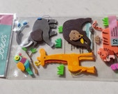 """Reserved for Altina """"The Zoo"""" """"The Jungle"""" animal themed scrapbook dimensional stickers / embellishments"""