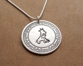 Mother and Baby Giraffe Necklace, New Mom Necklace, Fine Silver, Sterling Silver Chain, Made To Order