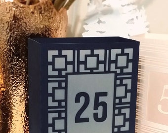 Darden Table Numbers / Luminaries / Wedding Table Numbers / Table Markers /