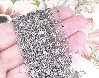 Stainless Steel Chain, Decorative Oval Closed Links, Fine 4.5x2mm, Hypoallergenic, Non Tarnish, Lot Size 2 to 30 feet, #1921