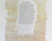 The MOROCCAN papercut ketubah / wedding vows
