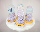 Frozen Cupcake Toppers, Party Circles- Printable