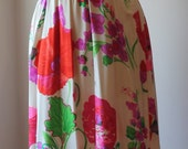 Vintage 1960's 1970's Richard Kaplan Maxi Dress Vintage Richard Kaplan Floral Silk Dress and Scarf