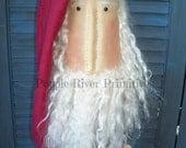 Primitive Santa Beehive Bobbin Make do, Santa Make do
