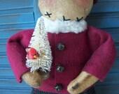 Primitive Snowman, Primitive Christmas Snowman
