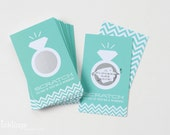 24 Scratch Off Cards for Bridal Shower Game // Jeweler Blue
