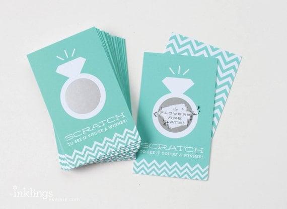 Scratch Off Cards for Bridal Shower Game // Jeweler Blue