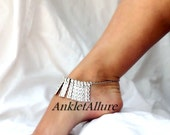 Tribal Belly Dance Anklet Silver Bib Ankle Bracelet Silver Ankle Bracelet