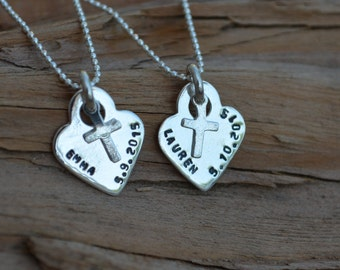 Cross Necklace - Personalized - Sterling Silver Cross - First Communion, Baptism, Religious, Faith, Confirmation Jewelry, Cross Charm