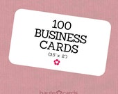 100 Custom Business Cards, Business Cards Custom - Printing Included