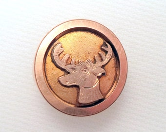 Antique Elks Collar Button or Cuff Link Fraternal Collectible