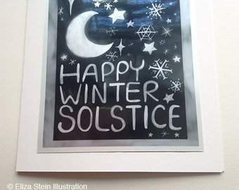 Winter Solstice Card, Pagan, Atheist, Secular, Wiccan, Nondenominational Greeting Card