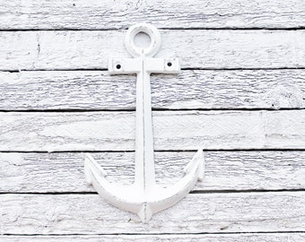 Anchor Decor-Nautical Decor-Anchor Wall Art-Nautical Anchor-Metal Anchor Nautical Decor-White Anchor, Beach House-Nautical Wall Art