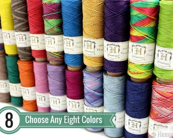 0.5mm Hemp Twine, 8 Spool Deal, Micro Macrame Cord, Choose Your Colors