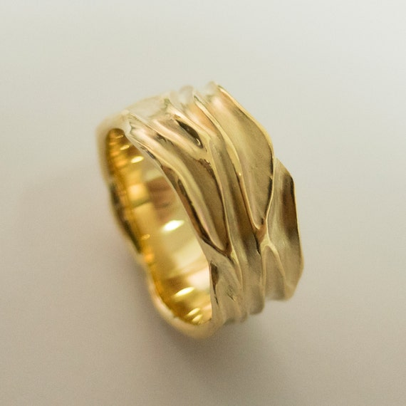 Dune - 14k Gold Ring , Wedding Ring ,Gold Band ,Wedding Ring ,Wedding Band ,Mens Ring
