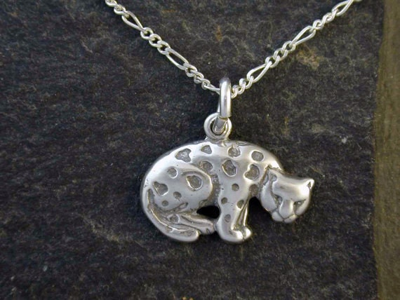 Sterling Silver Jaguar Pendant on a Sterling Silver Chain.