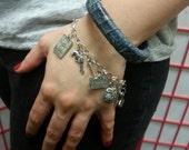 Authentic Blue Snakeskin Square Bracelet