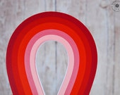 Quilling paper strips // Reds// 200 STRIPS // 4 mm // 297 mm // red shades