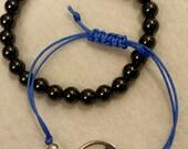 Friendship Lotus Bracelet and Hematite Beads bracelet-Layer bracelets,mala stack, yoga bracelet, woven bracelet, mala bracelet, boho, buddha