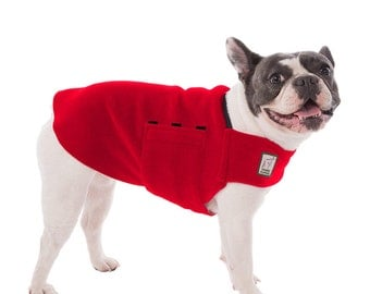 FRENCH BULLDOG Tummy Warmer, Dog Sweater, Fleece Dog Coat, Dog Clothing