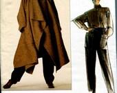 Vogue 1476 Issey Miyake Coat Cape Shirt Pants Individualist Designer Original B34