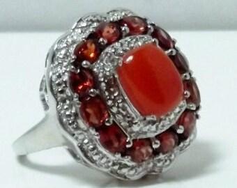 Red Jade, Mozambique Garnet Ring