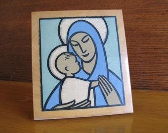 Pyraglass - Virgin Mary and Baby Jesus