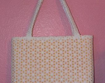 Upcycled Eyelet Tote Bag