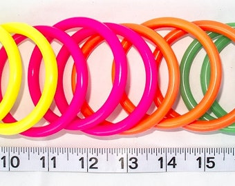 "2.75"" Neon Plastic Rings - Talon Toys/Bird Toy Parts - 5 Qty"
