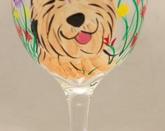 Soft coated wheaten terrier wine glasses CUSTOM set of 2