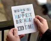 Happiest Birthday Shot Glass Card