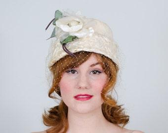 1950s vintage hat / straw hat / Franciné