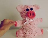 Security Blanket crochet pattern Pig PDF - Piggy amigurumi toy and blanket - newborn baby shower nursery gift blankie -  Instant DOWNLOAD