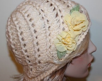 Vintage Inspired Beanie Hat Beanies Womens Hat Teen Hat Cream Fashion Swirl Hat Gatsby Style Womans Cloche Crochet Hat
