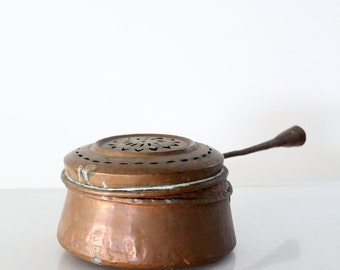 vintage copper pot, kitchen pan