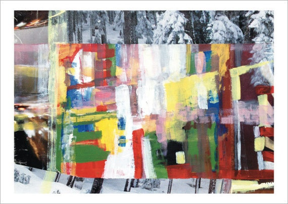 Abstract Magazine Collage Magazine Collage Art Print