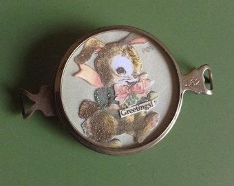 Vintage Handcrafted Bunny Bracelet Piece
