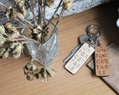 Unforgettable Wooden Keychain - Personalized Initial Laser Cut Wood Engraved Typographic Love Keychain