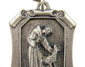 Cherished Saints Saint Francis PROTECT my PET Scroll Religious Medal for your Beloved Pet