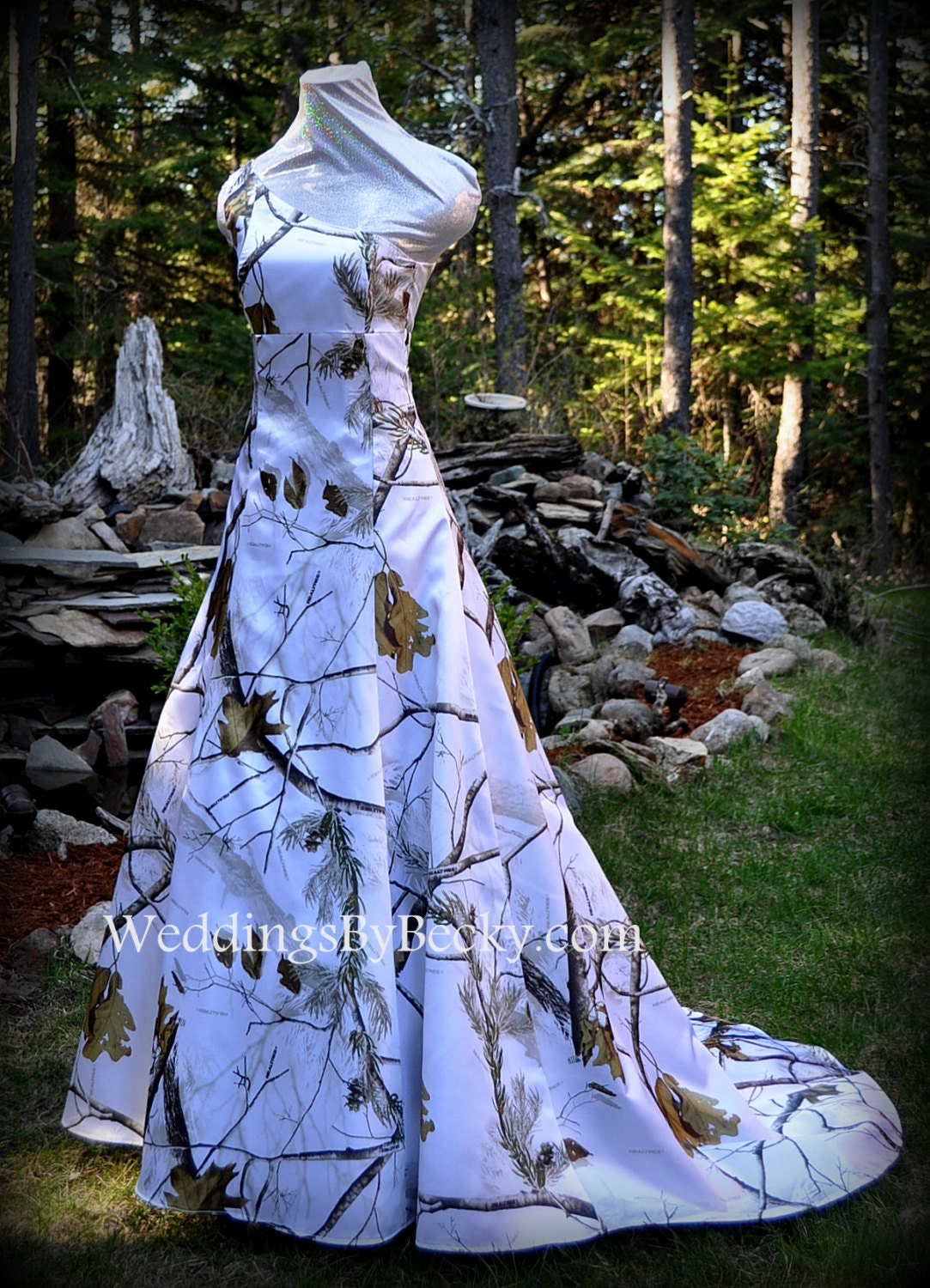 Realtree Snow Camo Wedding Dress 39 Abigail 39 Made Only