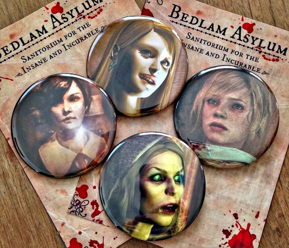 "The Ladies of Silent Hill - Choose a Button Large 2 1/4"" Pins"