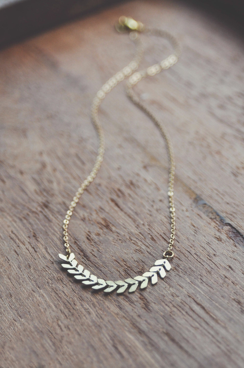 boho dainty chevron necklace by bellehibou on etsy