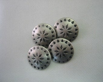 """Large Pewter 1"""" (25mm) Shank Button Lot size is 6 Classic Western Wear"""